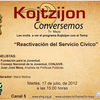 Reactivacin del Servicio Cvico